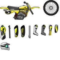 mad skill motocross skins pack by cavalars