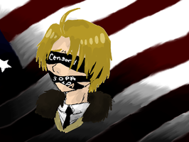 America Censored Fight SOPA PIPA by Lady-Pyrien