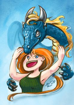 Dragon and Girl by Ephirel