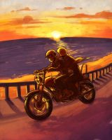 PSYCH - seaside ride by FerioWind