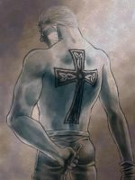 A Cross of His Back. by nasumaru