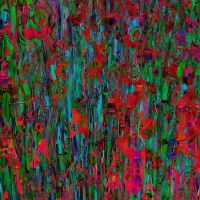 Chaitic pattern red green by Patterns-stock