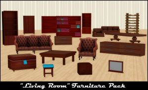 Living Room Furniture Pack by deexie