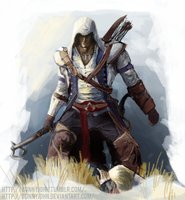 Connor Kenway w/ Speed Painting by BonnyJohn