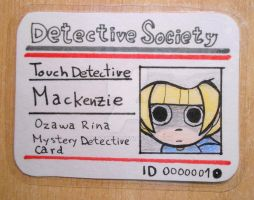 Touch Detective Mackenzie's ID Card by 402ShionS3