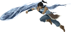 Korra Waterbending Vector by fncombo