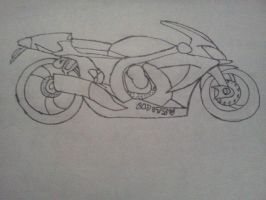 Unnamed Motorcycle sketch by Draguto789