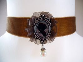 Chocolat Steampunk Choker - 02 by alice-day