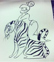 Pinup Tiger Girl by spicysteweddemon