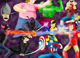 El darios de dross vs marvel by guerreroOmega