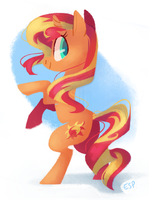 sunset shimmer by spacekitsch