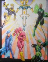 Justice League Unlimited commission by steelcitycustomart