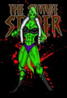 The Savage Spide villain Lizzy Skinz by RWhitney75