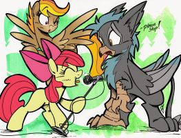 Michelle Creber + Black Gryph0n announcement art by EverfreeNW