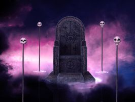 Throne mist premade BG by StarsColdNight