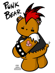 PUNK BEAR DOES HAVE A TAIL by ChibiCelina