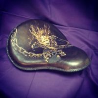 Ghost Rider Motorcycle seat by MerrillsLeather