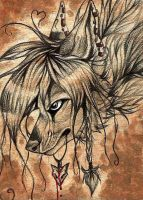 Witch ACEO by ZairaHusky