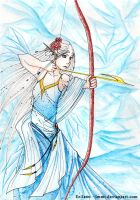 The Blue Archer by lmmi