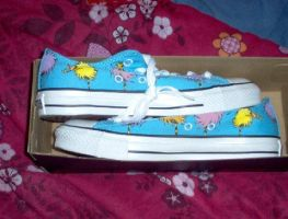 Lorax Converse Shoes :3 by FairyGal11