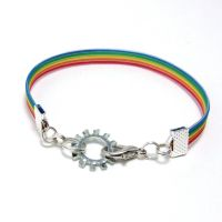 Steampunk Rainbow Bracelet by Techcycle