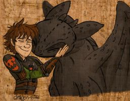 Toothless and Hiccup Huggle by WitchyTwinzy