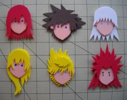 Foam Faces: Kingdom Hearts by Meika02