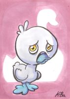 The Ugly Duckling Art Card by kevinbolk