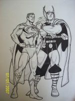 Thor And Super-Man by ejgg