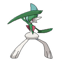 Gallade Pixel Over by Inika-Xeathis