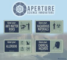 Aperture Science 50's posters by Whatpayne