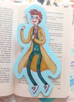 Tenth Doctor/Adventure Time Bookmark by EvaHolder