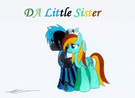 My little DA sister, Pixel (OC) by AZ-Derped-Unicorn