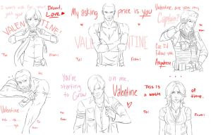Resident Evil 6 Valentines by BleachcakeCosplay