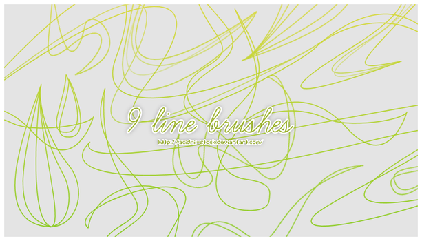 9 Line Brushes by acidmii-stock