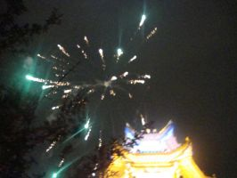 Wedding fireworks 3 by Laura-in-china