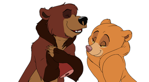 Kiara and Kovu Brother Bear style by FallenFireFox