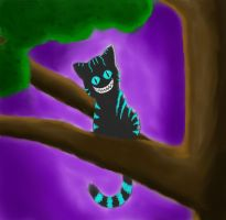 Cheshire Cat by cottoncandyskeleton
