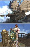 Lineage 2 - Clan Airship by Brownfinger