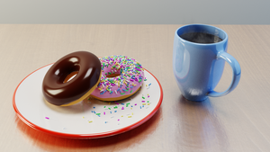 Donuts and coffee by eXtc-be