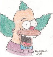 Krusty Drawing by MarioSimpson1