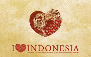 i love indonesia - wallpaper by mongkih