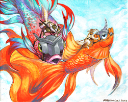 Dragonbetta Riders by Katmomma