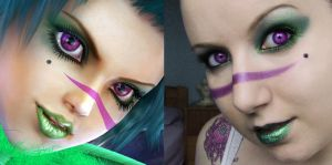 Tira Cosplay Make up test by Lil-Miss-Macabre