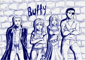 Buffy-group shot by Michsi