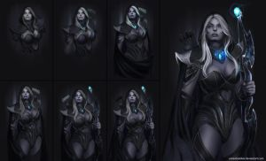 drow ranger step by step by unrealsmoker