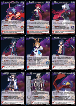 Disgaea: Netherwar Card Game - Leader example set by masterage