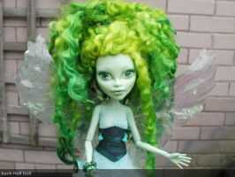 monster high custom doll, Abysinth the green fairy by Rach-Hells-Dollhaus