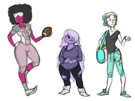 Crystal Gems High School AU by ToyheNoctus