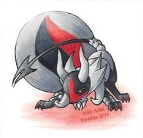 Chibi Mega Houndoom by MadArtistParadise